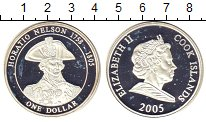 Изображение Монеты Острова Кука 1 доллар 2005 Серебро Proof-