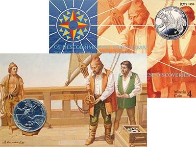 Изображение Подарочные монеты Португалия Астрономическая навигация 1990 Серебро UNC