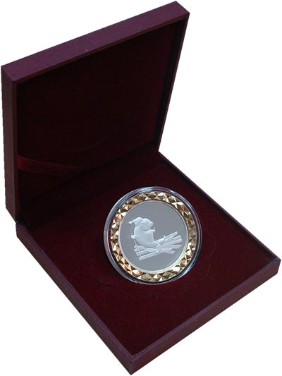 Изображение Подарочные монеты Россия Сочи 0 Биметалл Proof Памятиная медаль пос
