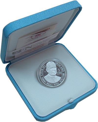 Изображение Подарочные монеты Ватикан 5 евро 2012 Серебро Proof Монета номиналом 5 е