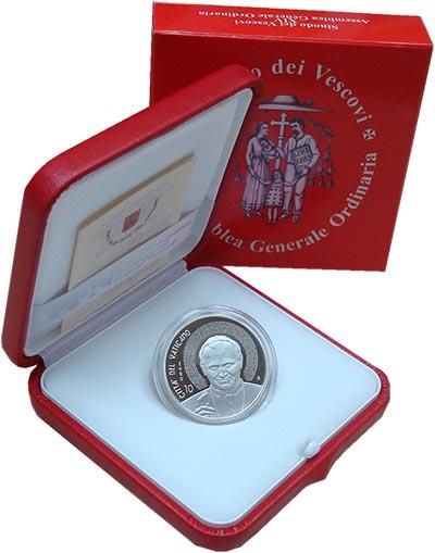Изображение Подарочные монеты Ватикан Понтификат Франциска 2015 Серебро Proof Монета номиналом 10