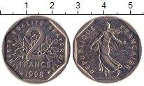 Изображение Барахолка Франция 2 франка 1998 Никель XF