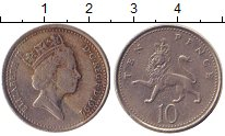 Изображение Барахолка Великобритания 10 пенсов 1992 Медно-никель VF Елизавета II