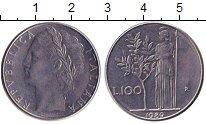 Изображение Дешевые монеты Италия 100 лир 1989 Медно-никель XF