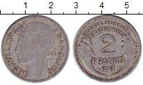 Изображение Барахолка Франция 2 франка 1947 Алюминий VF