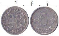 Изображение Дешевые монеты Финляндия 5 пенни 1986 Алюминий XF-