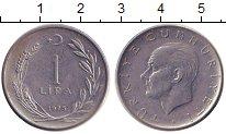 Изображение Дешевые монеты Турция 1 лира 1975 нержавеющая сталь XF