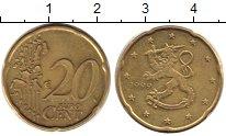 Изображение Барахолка Финляндия 20 евроцентов 1999 Латунь VF