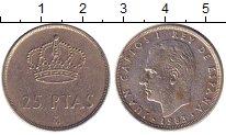 Изображение Дешевые монеты Испания 25 песет 1983 Никель XF-