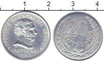 Изображение Барахолка Уругвай 20 сентесимо 1965 Алюминий XF+
