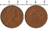 Изображение Дешевые монеты Великобритания 2 пенса 1975 Медь XF