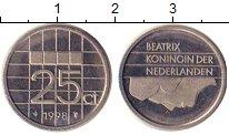 Изображение Барахолка Нидерланды 25 центов 1998 Никель XF