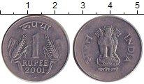 Изображение Барахолка Индия 1 рупия 2001 Медно-никель XF-