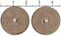 Изображение Дешевые монеты Бельгия 10 сантим 1938 Медно-никель XF-
