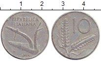 Изображение Дешевые монеты Италия 10 сентесим 1954 Алюминий VF