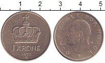 Изображение Дешевые монеты Норвегия 1 крона 1977 Никель XF