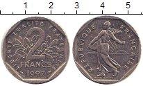 Изображение Барахолка Франция 2 франка 1997 Медно-никель XF