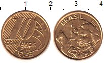 Изображение Дешевые монеты Бразилия 10 сентаво 2013 Латунь-сталь UNS-