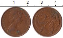 Изображение Дешевые монеты Австралия 2 пенса 1966 Медь VF