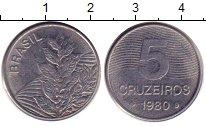 Изображение Дешевые монеты Бразилия 5 крузейро 1980 Медно-никель XF