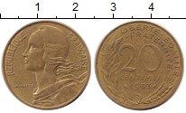 Изображение Дешевые монеты Франция 20 сентим 1983 Латунь XF