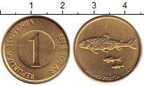 Изображение Барахолка Словения 1 толар 1999 Латунь XF