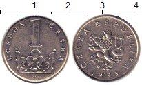 Изображение Дешевые монеты Чехия 1 крона 1993 Медно-никель XF-