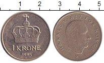 Изображение Барахолка Норвегия 1 крона 1995 Медно-никель XF-
