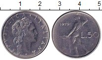 Изображение Дешевые монеты Италия 50 лир 1979 Медно-никель XF