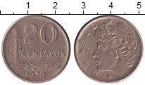 Изображение Барахолка Бразилия 20 сентаво 1970 Медно-никель XF-