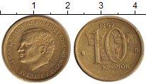 Изображение Дешевые монеты Швеция 10 крон 1992 Латунь XF-