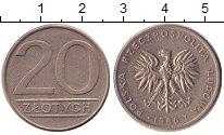 Изображение Барахолка Польша 20 злотых 1986 Медно-никель XF