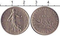 Изображение Дешевые монеты Франция 1 франк 1972 Медно-никель VF-