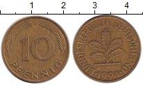Изображение Дешевые монеты Германия 10 пфеннигов 1994 Латунь XF-