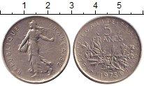 Изображение Дешевые монеты Франция 5 франков 1975 Медно-никель XF-