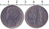 Изображение Дешевые монеты Италия 100 лир 1959 Медно-никель XF