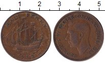 Изображение Дешевые монеты Великобритания 1/2 пенни 1952 Медь XF-