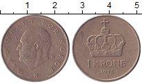 Изображение Дешевые монеты Норвегия 1 крона 1975 Медно-никель XF-