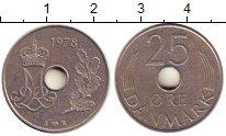 Изображение Дешевые монеты Дания 25 эре 1978 Никель XF