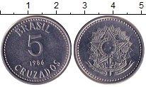 Изображение Барахолка Бразилия 5 крузадо 1984 нержавеющая сталь XF