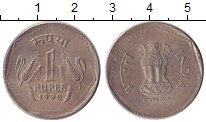 Изображение Дешевые монеты Индия 1 рупия 1990 Никель XF