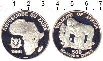 Изображение Монеты Конго Заир 500 заир 1996 Серебро Proof-