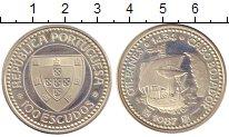 Изображение Монеты Португалия 100 эскудо 1987 Серебро UNC- Жиль  Инес