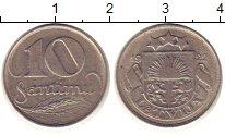 Изображение Монеты Латвия 10 сантим 1922 Медно-никель VF
