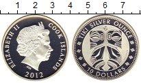 Изображение Монеты Новая Зеландия Острова Кука 10 долларов 2012 Серебро Proof-