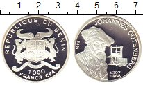 Изображение Монеты Бенин 1000 франков 1999 Серебро Proof