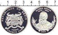 Изображение Монеты Бенин 1.000 франков 2004 Серебро Proof Альфред  Брем