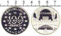 Изображение Монеты Франция 100 франков 1995 Серебро Proof Красный  замок   Аль