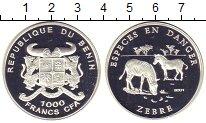 Изображение Монеты Бенин 1.000 франков 2001 Серебро Proof Сохраним  дикую  при
