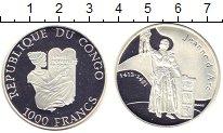 Изображение Монеты Конго 1000 франков 2005 Серебро Proof